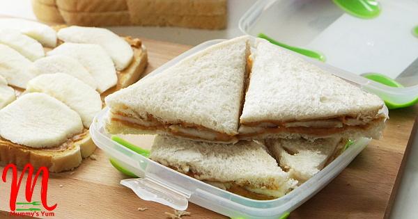 apple and peanut butter sandwich