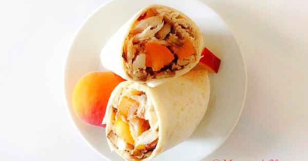 fruity chicken wrap