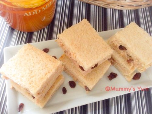 Tuna & Raisins Sandwich