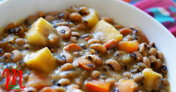 creamy beans with yam cubes