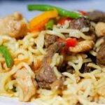 Chicken and Liver Stir-fried Noodles