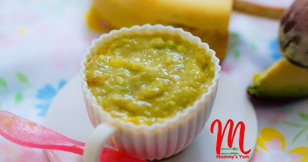 avocado banana and mango puree