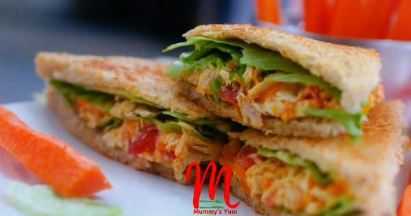 chicken and carrot sandwich