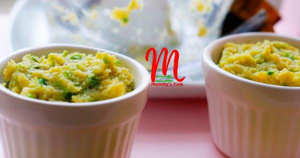 mushy yummy peas and plantain