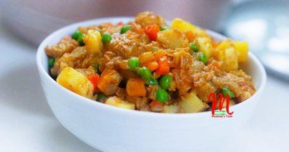 Irish Potato and Fish Pottage