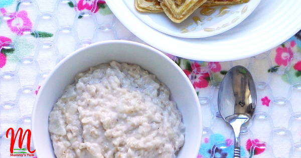 Pear and Oats Creamy Porridge