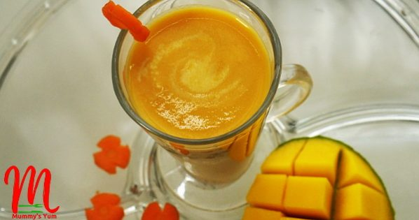 carrot and mango milkshake