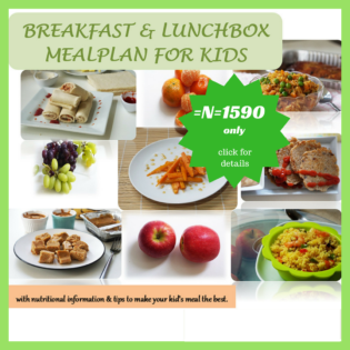 The meal plan for kids