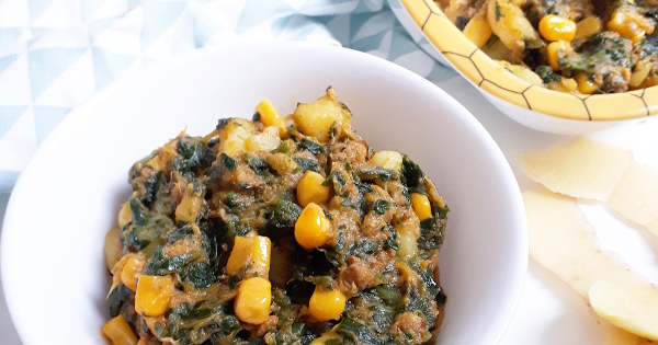 potato corn and vegetables