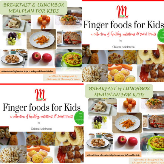 Mealp plan and finger foods for kids