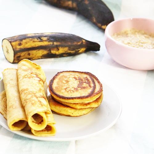 Plantain pancakes for kids