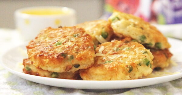 yam and peas fritters